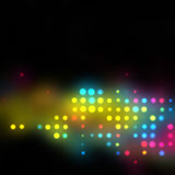 Glowing Halftone Dots Texture Royalty Free Stock Photos