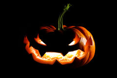 Glowing Halloween jack o' lantern Royalty Free Stock Photos
