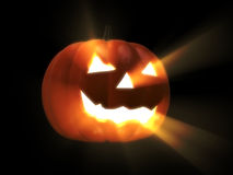 Glowing halloween pumpkin Royalty Free Stock Images