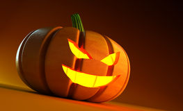 Glowing halloween pumpkin Stock Photo