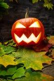 Glowing halloween pumpkin Royalty Free Stock Photography