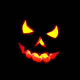 Glowing Halloween pumpkin. Royalty Free Stock Photo