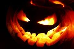 Glowing Halloween pumpkin Stock Image