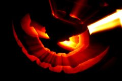 Glowing Halloween pumpkin Royalty Free Stock Photography