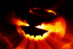 Glowing Halloween pumpkin Royalty Free Stock Photos