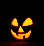 Glowing Halloween pumpkin Stock Photography