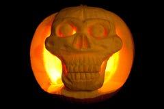 Glowing halloween pumpkin Royalty Free Stock Photo