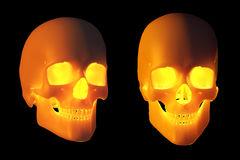 Glowing Halloween Skulls Royalty Free Stock Photo