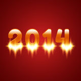 Glowing 2014 Royalty Free Stock Photos