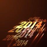 Glowing happy new year design. Shiny glowing happy new year design background vector illustration