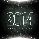 Glowing happy new year design. Glowing happy new yar 2014 greeting design Stock Photography