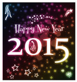 Glowing Happy New Year 2015 Royalty Free Stock Photos