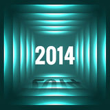 Glowing happy new year. Stylish 2014 happy new year design Royalty Free Stock Photography