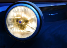 Glowing Headlight Stock Images