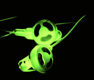 Glowing headset Stock Photography