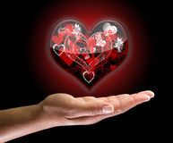 Glowing heart Royalty Free Stock Images
