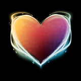 Glowing heart royalty free stock photos