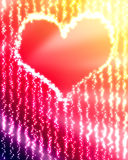 Glowing heart. On a light abstract background Stock Photos