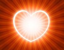 Glowing heart. Valentines Day Card background /wallpaper stock illustration