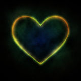 Glowing heart Stock Images