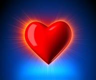 Glowing Heart Stock Photos
