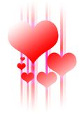 Glowing Heart Design. Hearts in an abstract design vector illustration