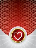 Glowing heart greeting card Stock Photo