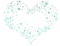 Glowing heart with heart plants Royalty Free Stock Photography