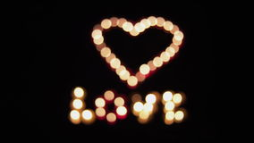 Glowing heart. With love Valentine's Day stock video