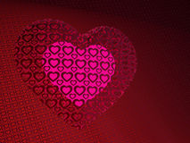 A glowing heart in a patterns heart Stock Images
