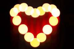 Glowing heart Royalty Free Stock Photo