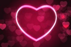 Glowing heart shape Stock Photography
