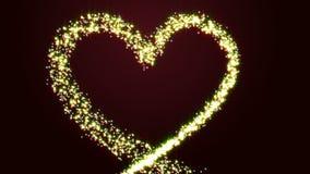 Glowing Heart. Valentine`s Day