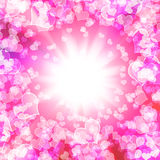 Glowing Hearts Royalty Free Stock Photo