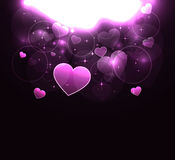 Glowing hearts Royalty Free Stock Image