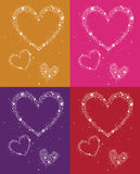 Glowing hearts Stock Photos