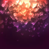 Glowing Hearts Royalty Free Stock Photos