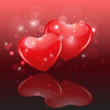 Glowing hearts Royalty Free Stock Images