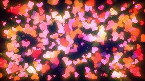 Glowing Hearts Particles Loop. Cool animated background that is perfectly looped. These animations are perfect to use with Valentine's Day videos, wedding stock video footage