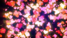 Glowing Hearts Particles Loop. Cool animated background that is perfectly looped. These animations are perfect to use with Valentine's Day videos, wedding stock footage