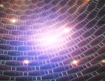 Glowing hexagonal net background Stock Photography