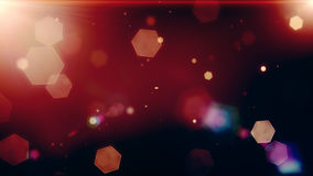 Glowing hexagons, bokeh, cool abstract hexagons, vibrant backgro Stock Photography