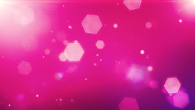 Glowing hexagons, bokeh, cool abstract hexagons, vibrant backgro Royalty Free Stock Photo