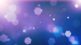 Glowing hexagons, bokeh, cool abstract hexagons, vibrant backgro Royalty Free Stock Photography