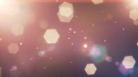 Glowing hexagons, bokeh, cool abstract hexagons, vibrant backgro Stock Photos