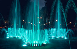 Glowing holiday jet fountain Royalty Free Stock Images