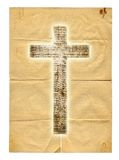 Glowing holy cross on paper background Royalty Free Stock Image