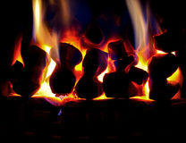 Glowing home fire Stock Photography