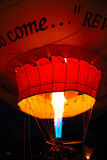 Glowing Hot air Ballon. This shot was taken in Albuquerque NM during the Ballon Fiesta Stock Photos