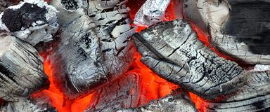 Glowing Hot Charcoal Background Texture Royalty Free Stock Photography